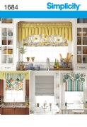 1684 Simplicity Pattern: Roman Blinds and Valances